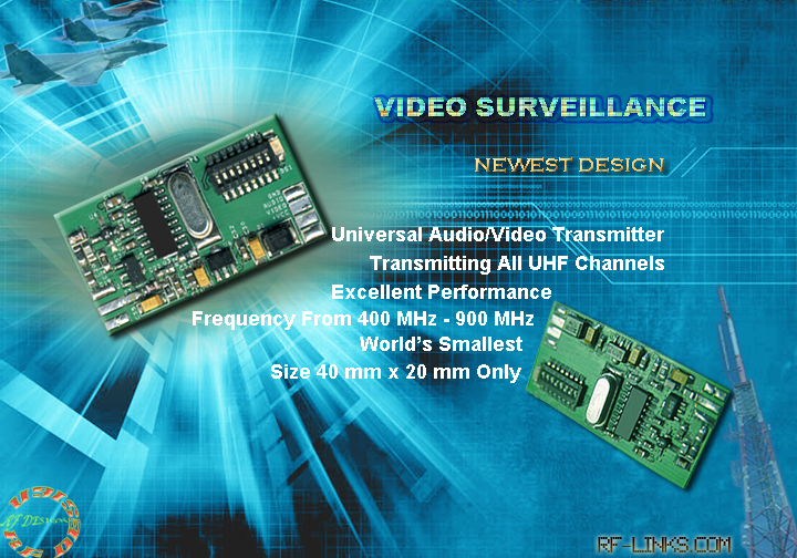 900 MHz VIDEO TRANSMITTERS